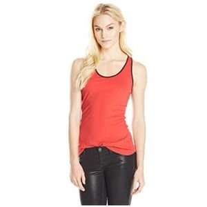 NEW LA Made Luxury Wash Anna Tank Top Tomato Red